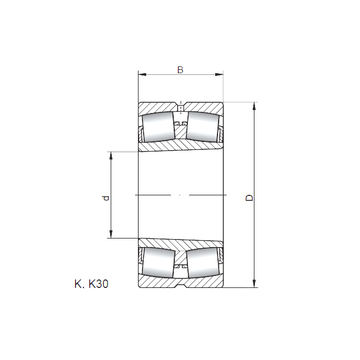 24160 K30W33 ISO Spherical Roller Bearings