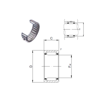 NK7/12M JNS Needle Roller Bearings