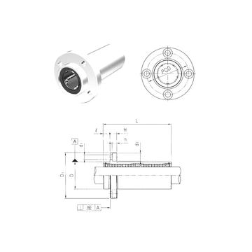 LMFP60L Samick Linear Bearings