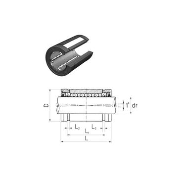 LMES16UUOP Samick Linear Bearings