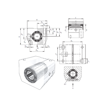 KGSNS50-PP-AS INA Linear Bearings