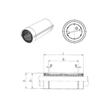 LME40L Samick Linear Bearings