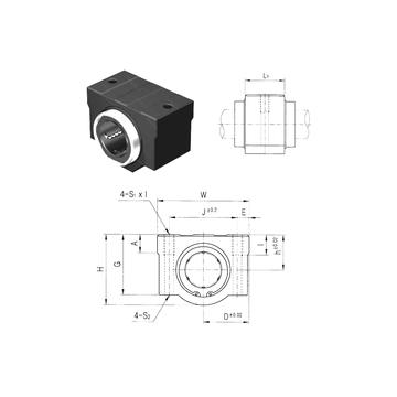 SC30VUU Samick Linear Bearings