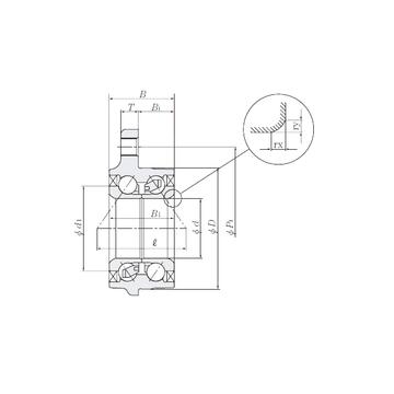 HUB003-1 NTN Angular Contact Ball Bearings